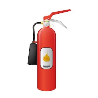 Ilustração de extintor de incêndio vermelho