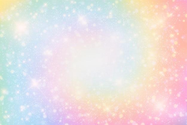 Ilustração de fantasia de fundo e cor pastel