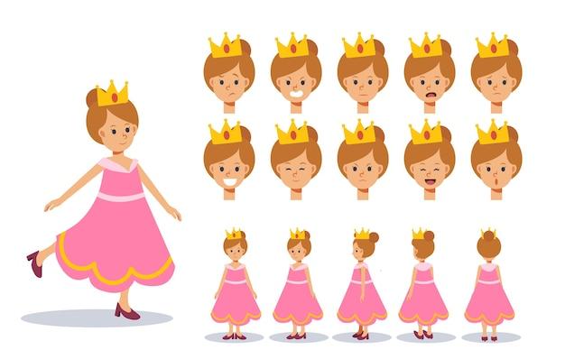 Ilustração de fantasia de menina com princesa