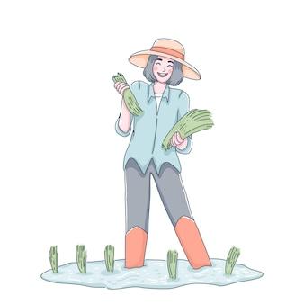 Ilustração de fazendeiro