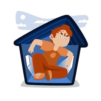Ilustração de febre de cabine