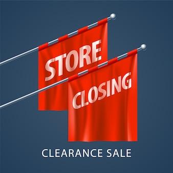 Ilustração de fechamento de loja, plano de fundo