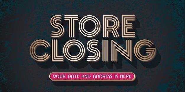 Ilustração de fechamento de loja