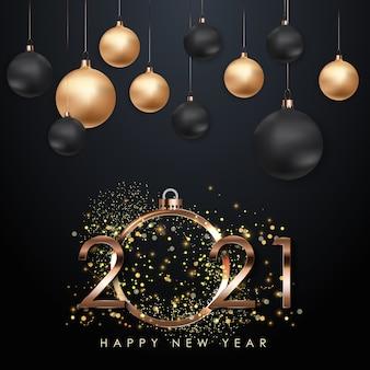 Ilustração de feliz ano novo de 2021