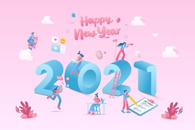 Ilustração de feliz ano novo