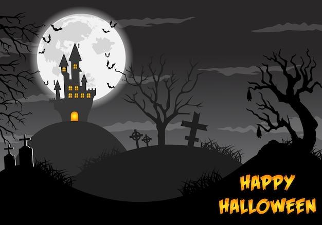Ilustração de feliz dia das bruxas.