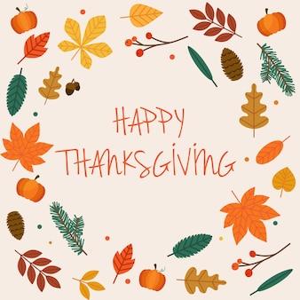 Ilustração de feliz dia de ação de graças