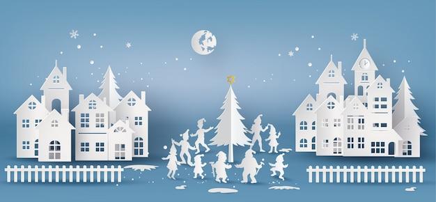 Ilustração de feliz natal e feliz ano novo,