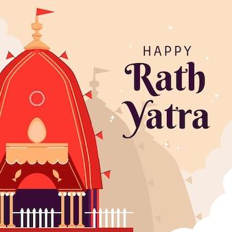 Ilustração de feliz rath yatra