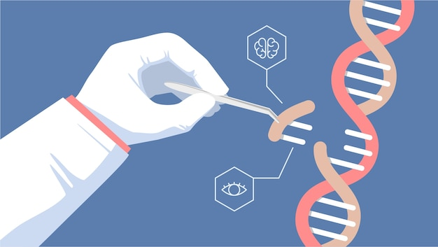 Ilustração de ferramenta de edição de gene