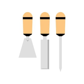 Ilustração, de, ferramentas, equipamento
