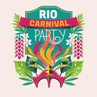 Ilustração de festa de carnaval do rio