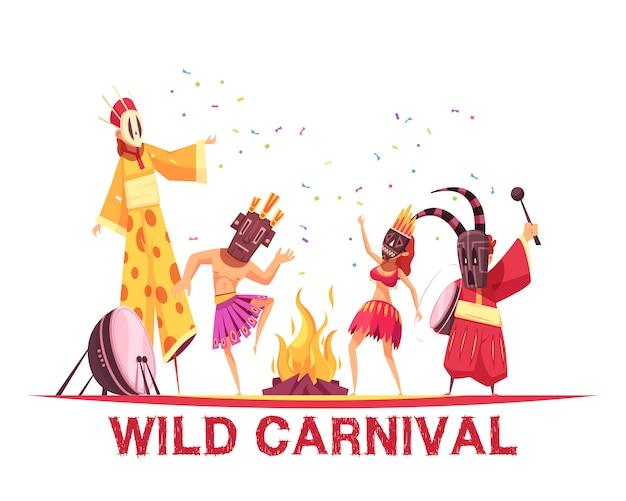 Ilustração de festa de carnaval