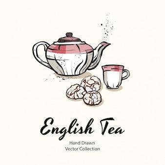 Ilustração de festa de chá