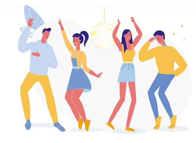 Ilustração de festa de clube de noite de estudantes