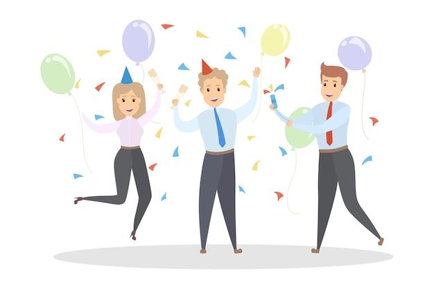 Ilustração de festa de escritório