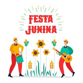 Ilustração de festa junina