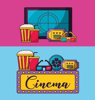 Ilustração de filme de cinema