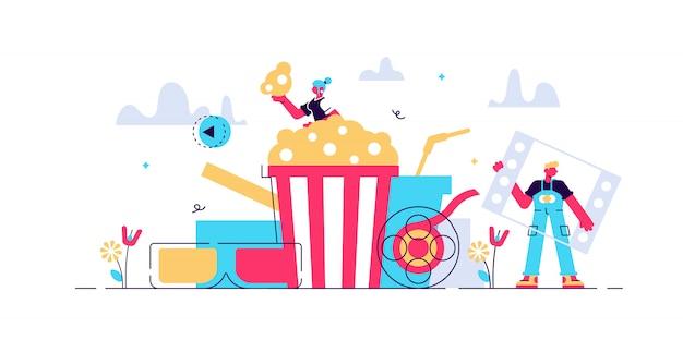 Ilustração de filmes.
