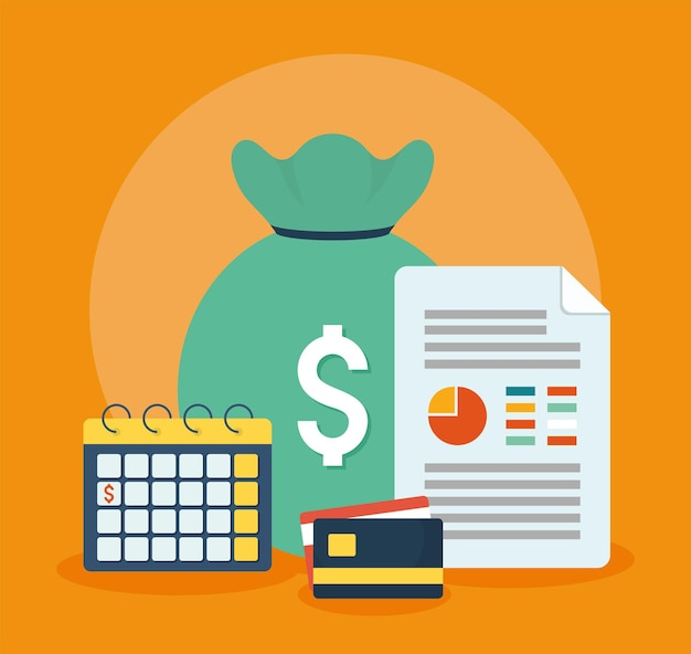 Ilustração de finanças pessoais
