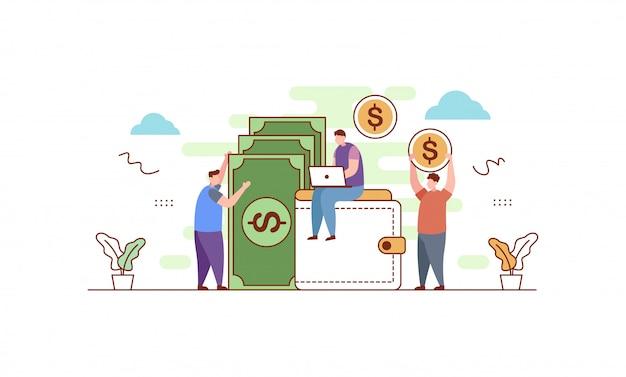 Ilustração de finanças