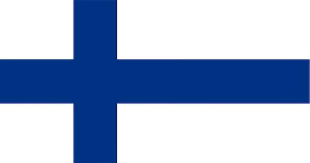 Ilustração, de, finland, bandeira