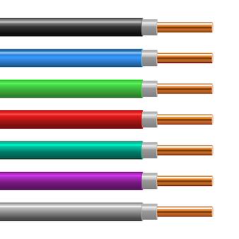 Ilustração de fio de cobre isolada no branco