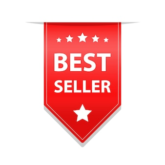 Ilustração de fita vermelha do melhor vendedor