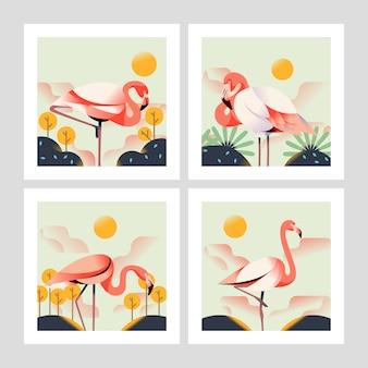 Ilustração de flamingo