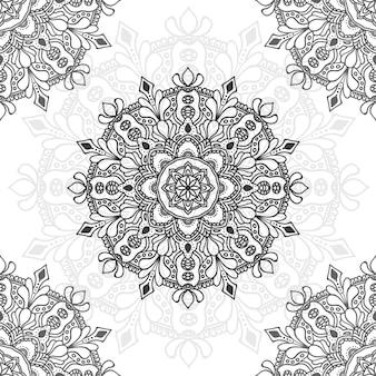 Ilustração de flor de mandala para múltiplos propósitos