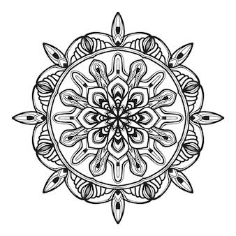 Ilustração de flor de mandala