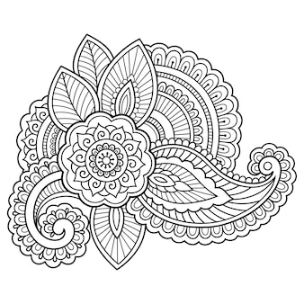 Ilustração de flor de tatuagem de henna
