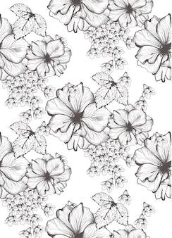 Ilustração de flores bonitas
