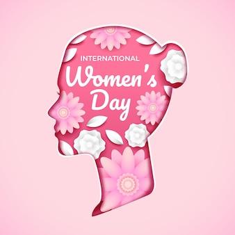 Ilustração de flores do dia internacional da mulher
