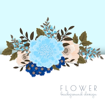 Ilustração de flores e folhas