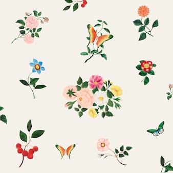 Ilustração de flores vintage