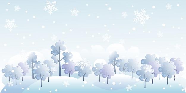 Ilustração de floresta de inverno
