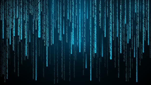 Ilustração de fluxo de números azuis