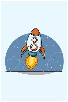 Ilustração de foguete