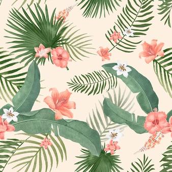 Ilustração de folhagem tropical