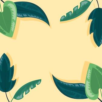 Ilustração de folhas tropicais