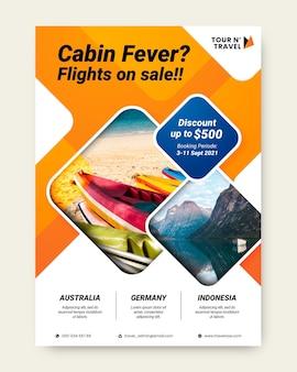 Ilustração de folheto de venda de viagens