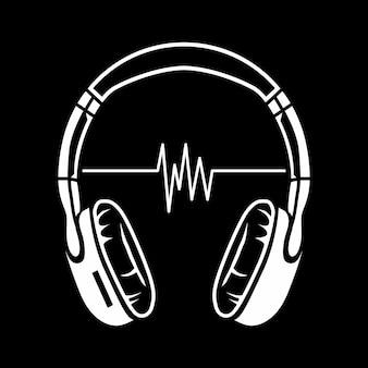 Ilustração de fones de ouvido