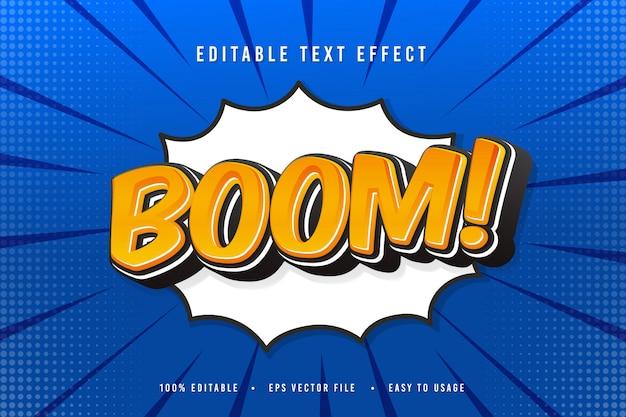 Ilustração de fonte decorativa boom comic