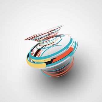 Ilustração de forma abstrata futurista