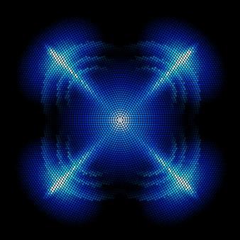 Ilustração de forma digital de pontos