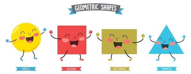 Ilustração de formas geométricas