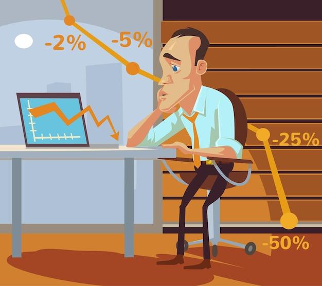 Ilustração de fracasso empresarial