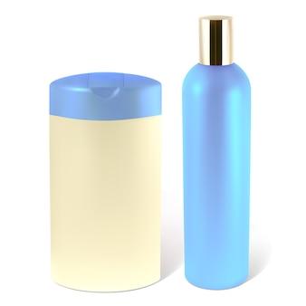 Ilustração de frascos de xampu ou loção