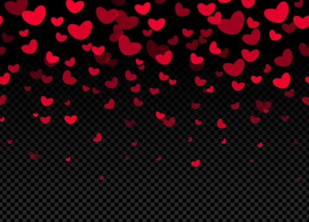 Ilustração de fronteira de corações sem emenda
